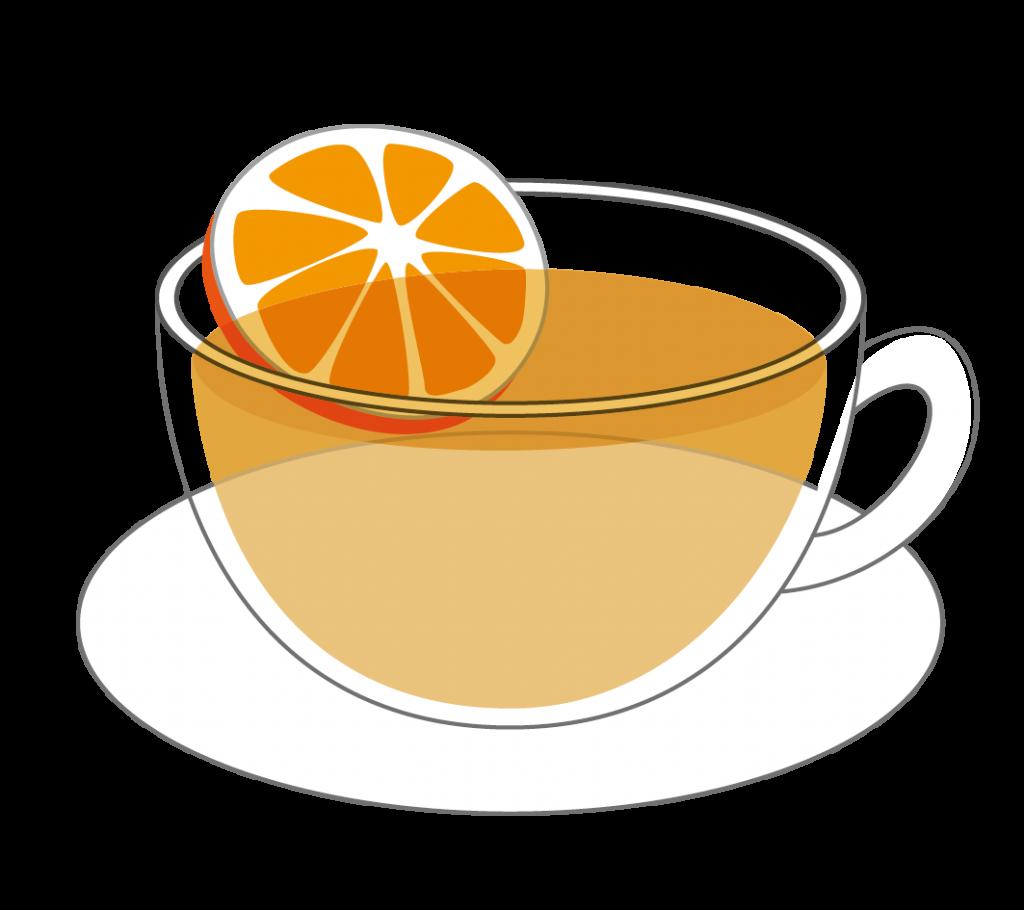 オレンジティーのイラスト