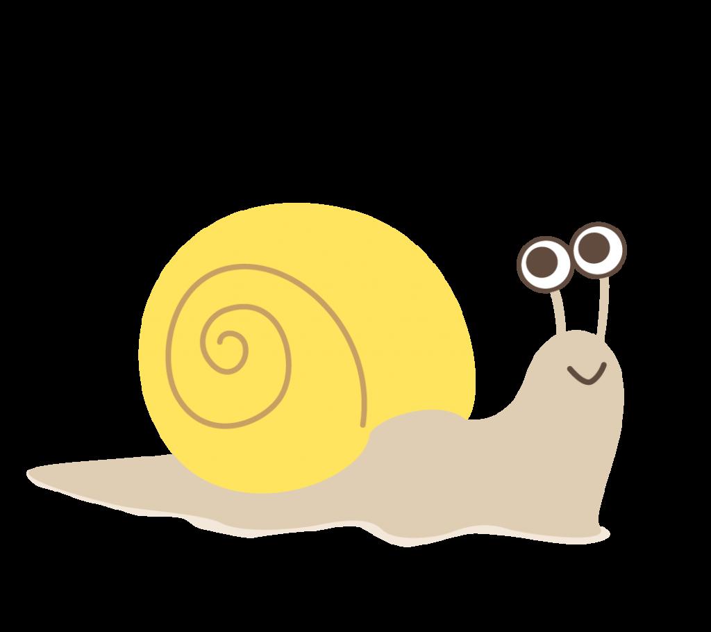 カタツムリのイラスト