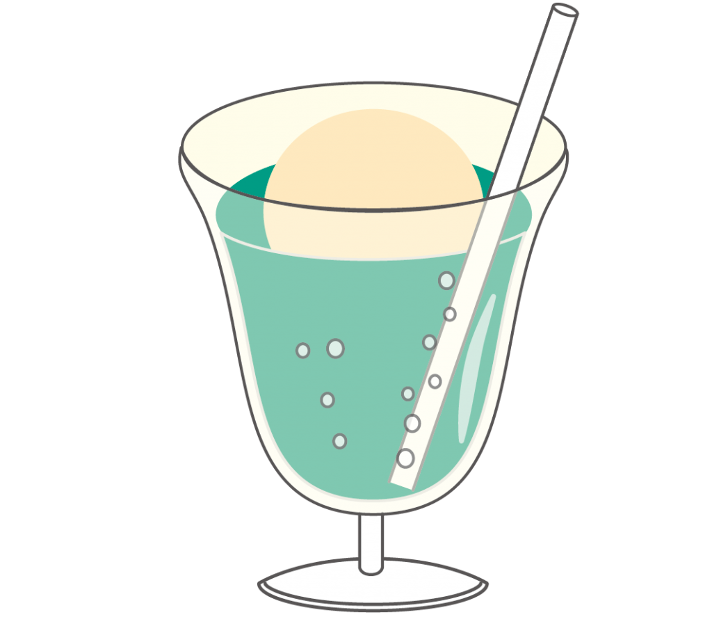 クリームソーダのイラスト