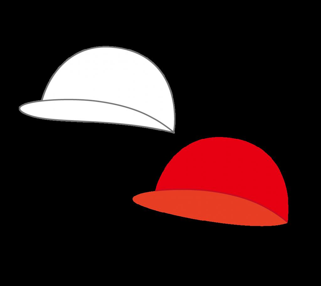 赤白帽のイラスト