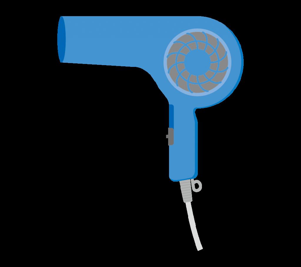 ドライヤー(青色)のイラスト