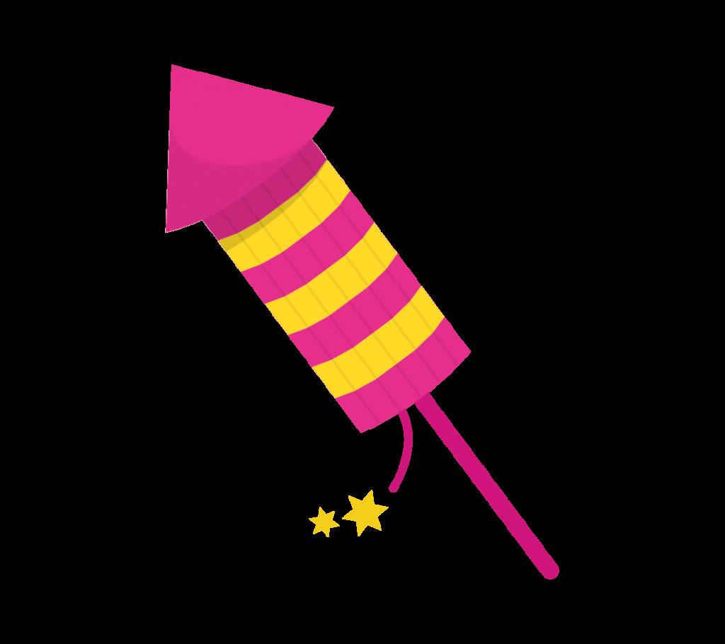 ロケット花火のイラスト