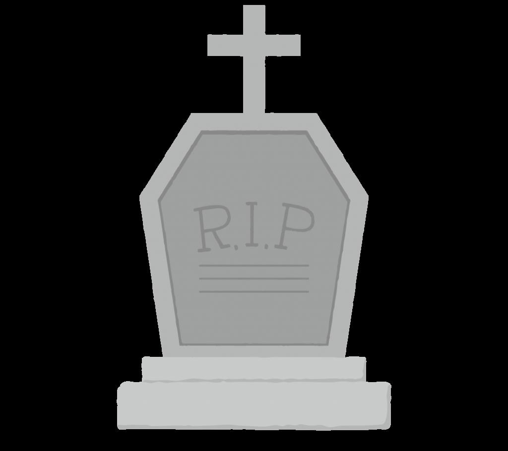 墓標・お墓のイラスト