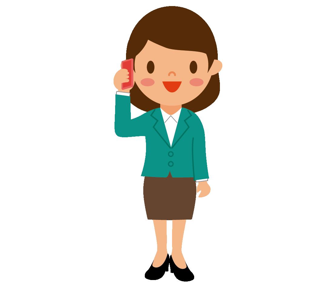 携帯で会話する女性のイラスト 高品質の無料イラスト素材集のイラサポフリー