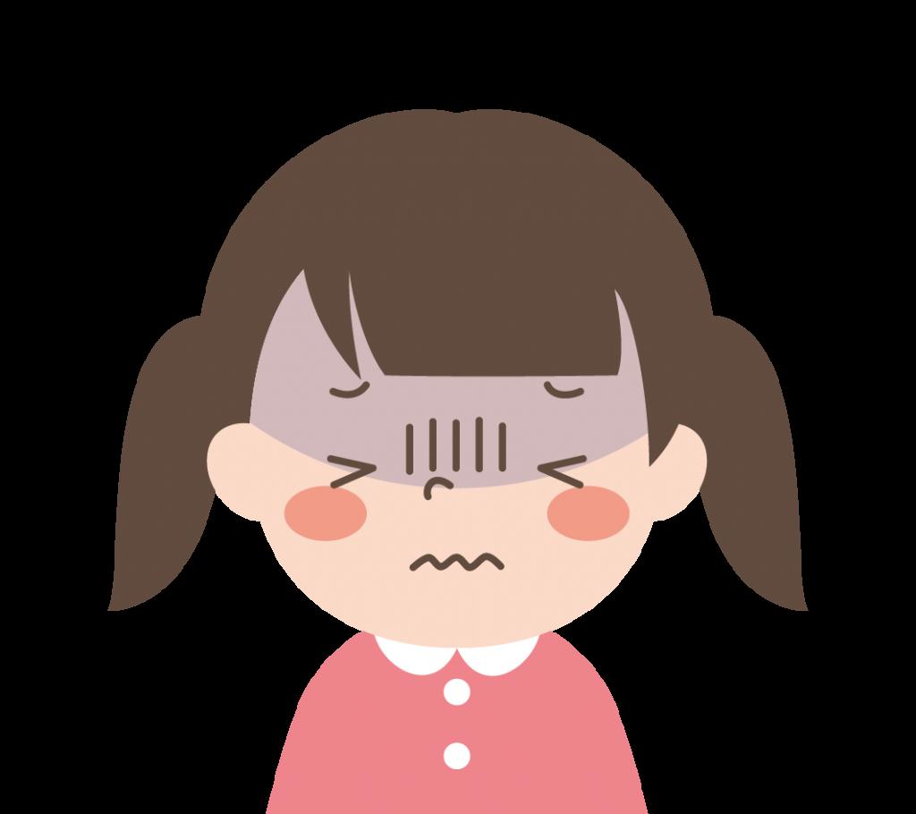 調子の悪い女の子のイラスト