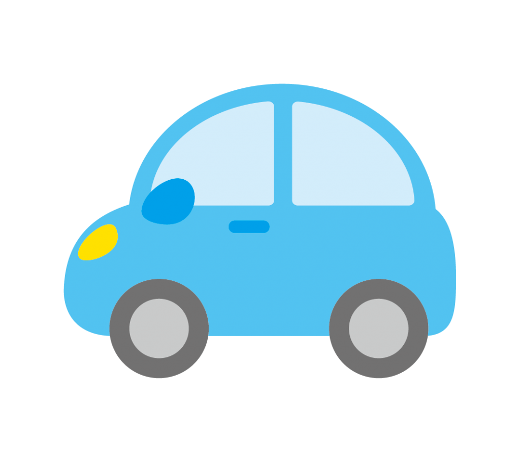 水色の車のイラスト