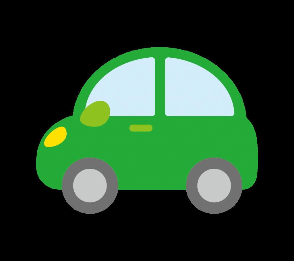 緑色の車のイラスト
