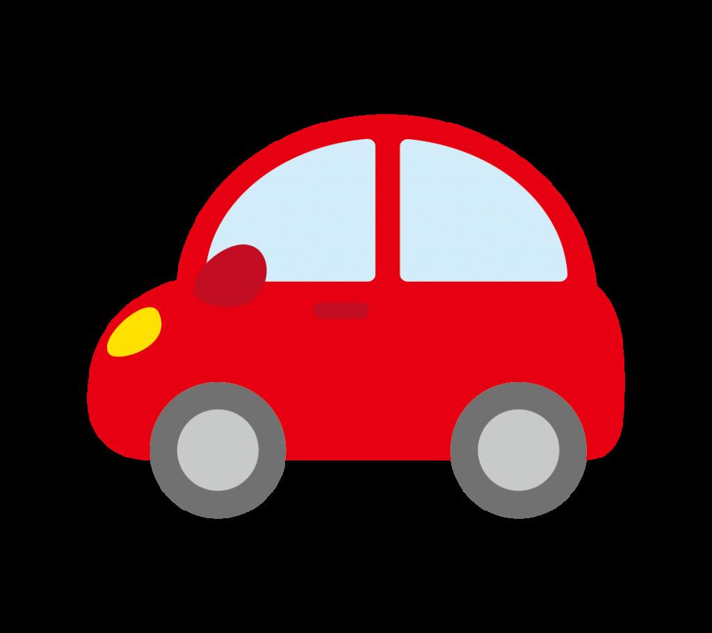 赤色の車のイラスト