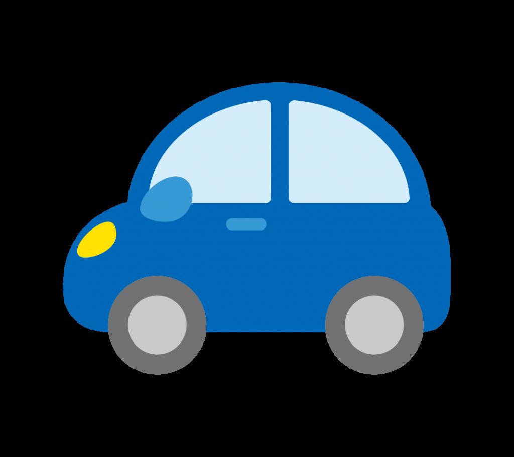 青色の車のイラスト