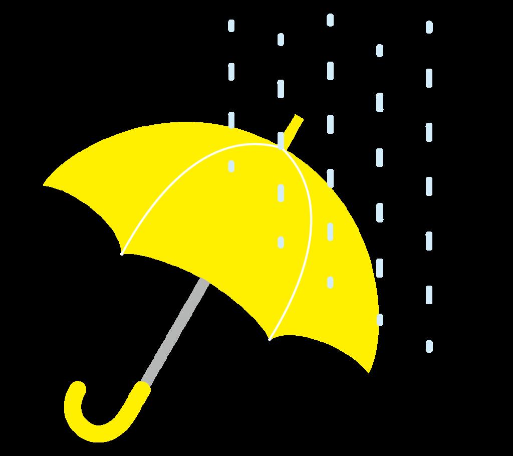 黄色の傘のイラスト